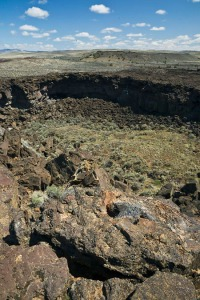 Lava Pit Crater within Diamond Craters Outstanding Natural Area