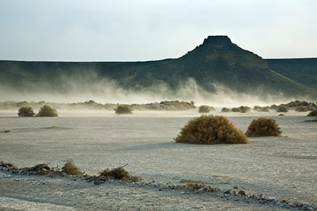 Dust storm in Malheur National Wildlife Refuge