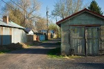 Alley in Hines, Oregon