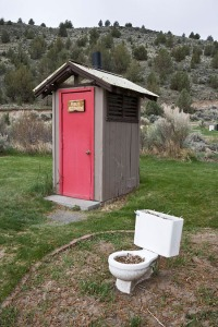 Outhouse at Frenchglen Hotel State Heritage Site
