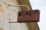 Sign detail of an old gas station in Frenchglen, Oregon