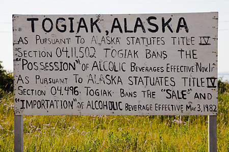 No alcohol in Togiak, Alaska