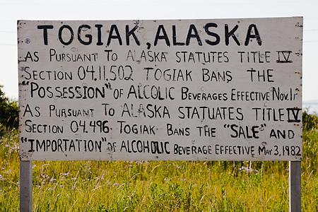 No alcohol in Togiak, Alaska