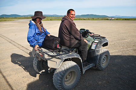 Paul Markoff ATV tour of Togiak, Alaska