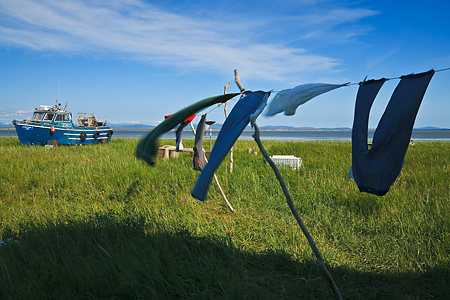 Laundry on the line, Togiak, Alaska