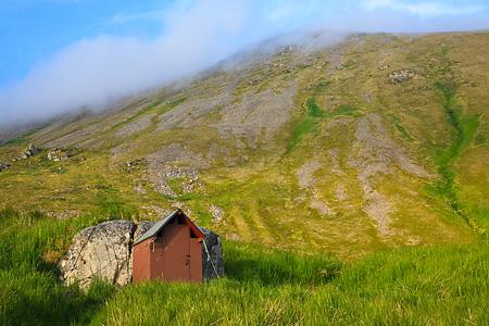 Outhouse on Round Island, Alaska