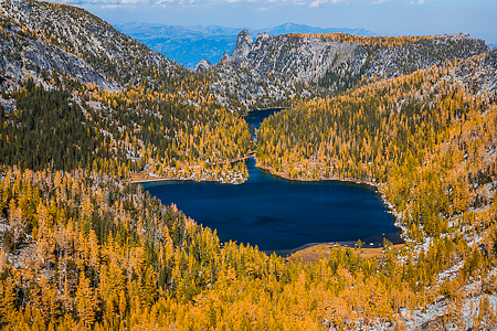 Shield Lake from Prusik Pass in The Enchantments