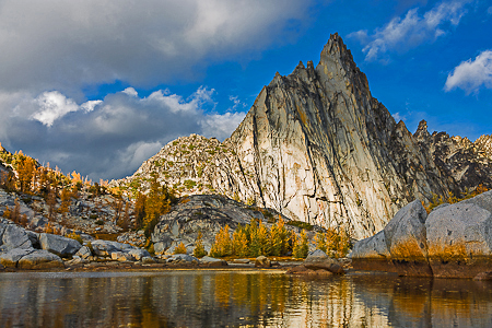 Prusik Peak Viewed from Gnome Tarn in The Enchantments