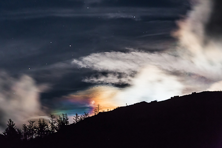 Corona around Rising Moon in The Enchantments