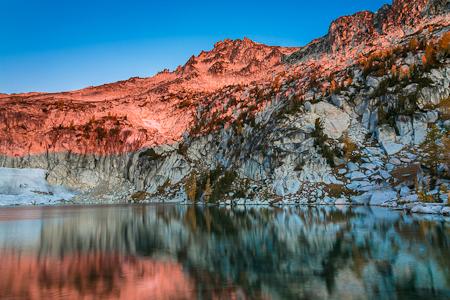Morning Light on Enchantment Peaks above Inspiration Lake