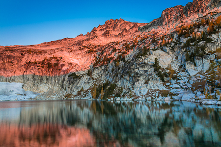 Morning Light on Enchantment Peaks above Inspiration Lake