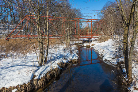 Gale Road Bridge in Historic Bridge Park, Calhoun County, MI