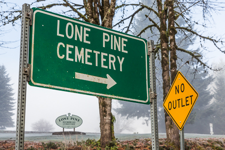 Lone Pine Cemetery Has No Outlet