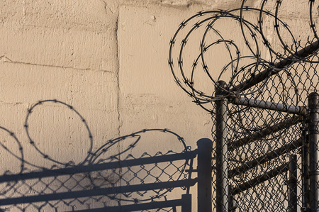 Razor Wire Topping Chain Link Fence in Seattle