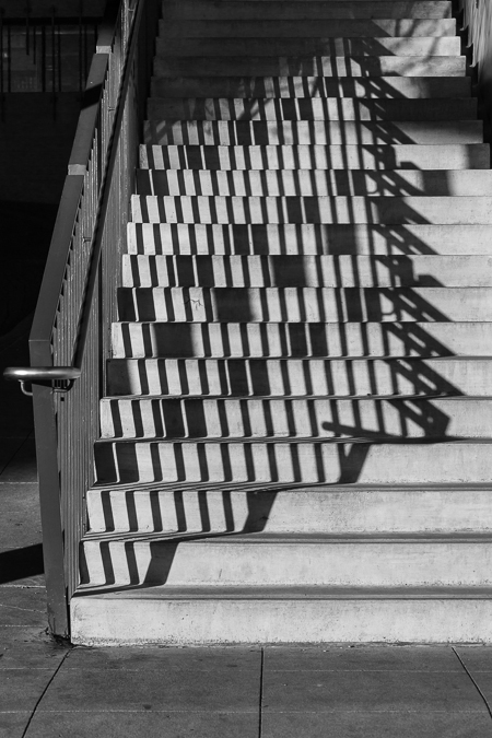 Shadows on Union Stairway on the Seattle Waterfront