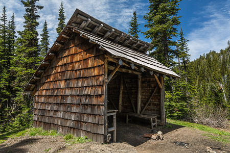 Rustic Boulder Shelter in Olympic National Forest