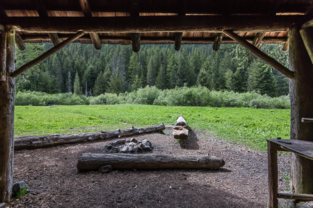 Camp Handy Shelter in Olympic National Forest