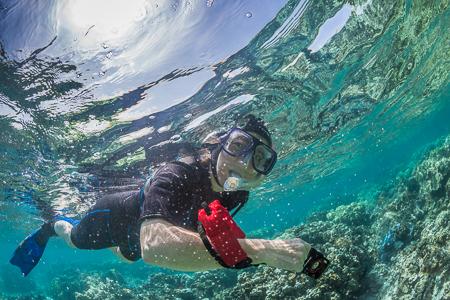 Karen Rentz Snorkeling in Kapoho Tide Pools off Hawaii's Big Isl