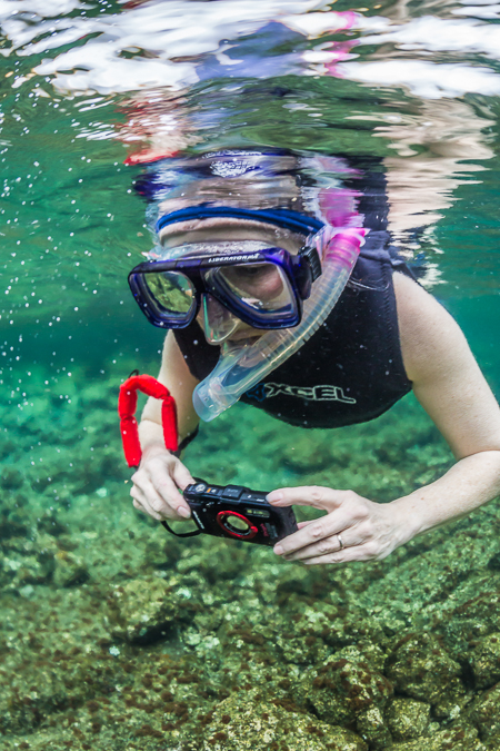 Karen Rentz Snorkeling off Big Island of Hawaii