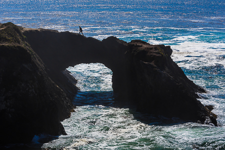 Arch and Pacific Ocean at Mendocino Headlands State Park