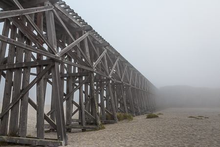 Pudding Creek Trestle in MacKerricher State Park Near Fort Bragg