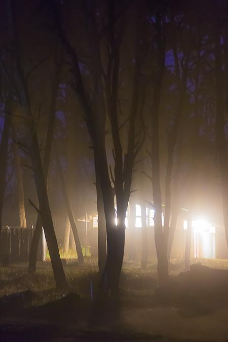 Night Glow from Restroom building MacKerricher State Park