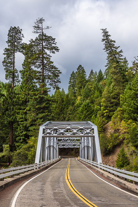 Bridge over South Fork Eel River in California's Redwood Forest