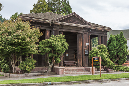Scotia Museum Built in the Greek Revival Style Using Redwood