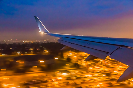 Final Approach to Sea-Tac Airport at Night