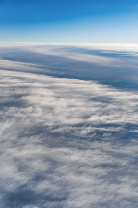 Cloudscape Viewed from Above During Flight over Great Plains