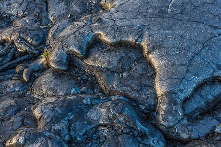 Toes of Pahoehoe Lava at Kalapana on the Big Island of Hawaii