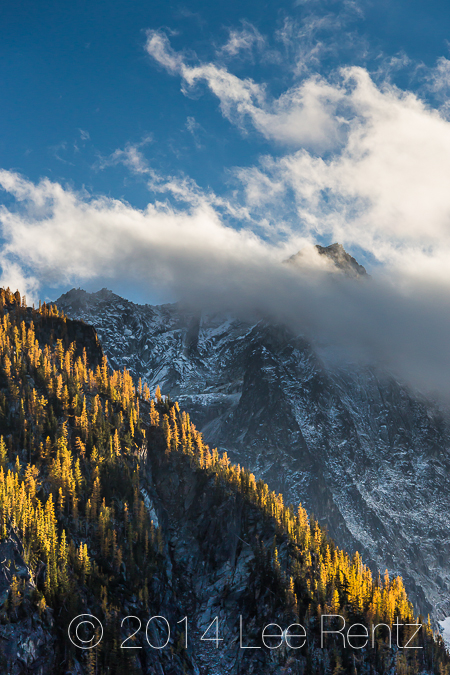 Mt. Stuart in Unsettled Weather in the Alpine Lakes Wilderness