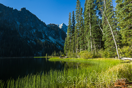 Edge of Lake Stuart on Tranquil Morning in Alpine Lakes Wilderne