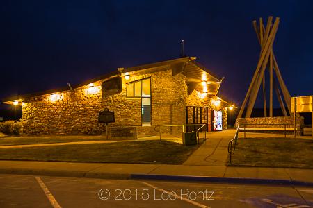 Plains Indian Tipi Motif in a South Dakota Rest Area