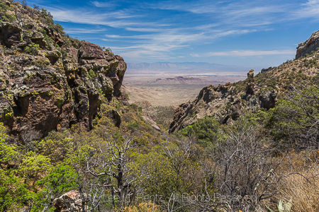 Boot Canyon Trail View in Big Bend National Park