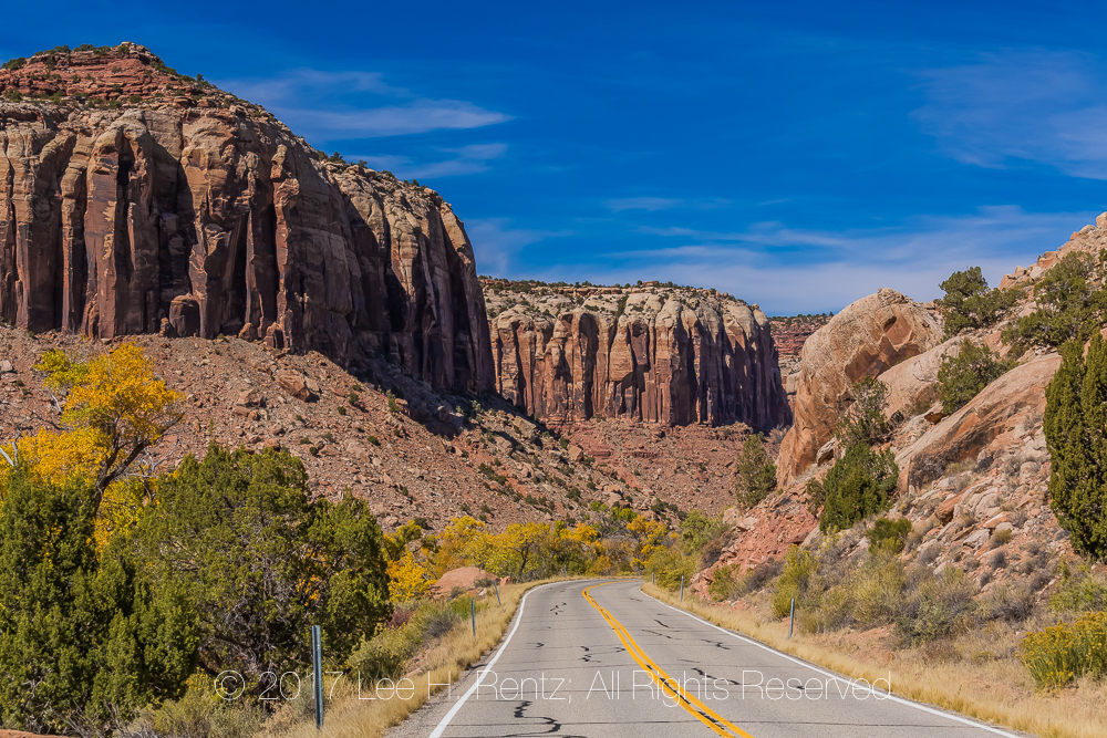 Utah State Route 211 In Indian Creek National Monument
