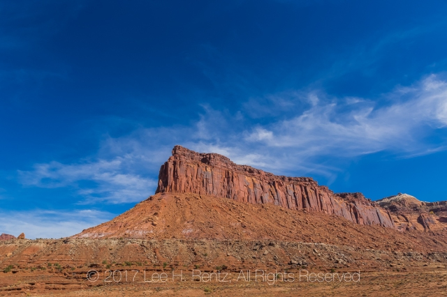 Red Sandstone Mesa In Indian Creek National Monument