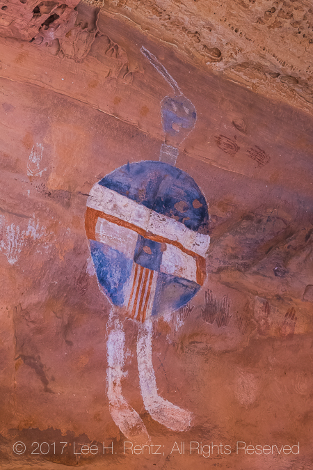All American Man Pictograph in Canyonlands National Park's Salt