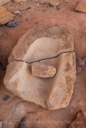 Mano and metate used for grinding corn some 700 years ago at Big Ruin, an Ancestral Pueblo village site within Salt Creek Canyon in The Needles District of Canyonlands National Park, Utah, USA