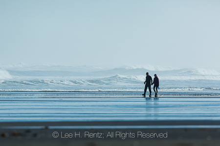 Couple on Shi Shi Beach in Olympic National Park