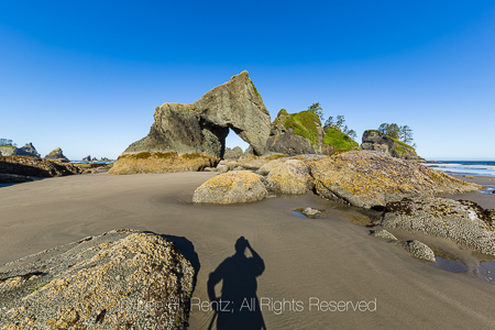 A Large Arch at Point of Arches in Olympic National Park