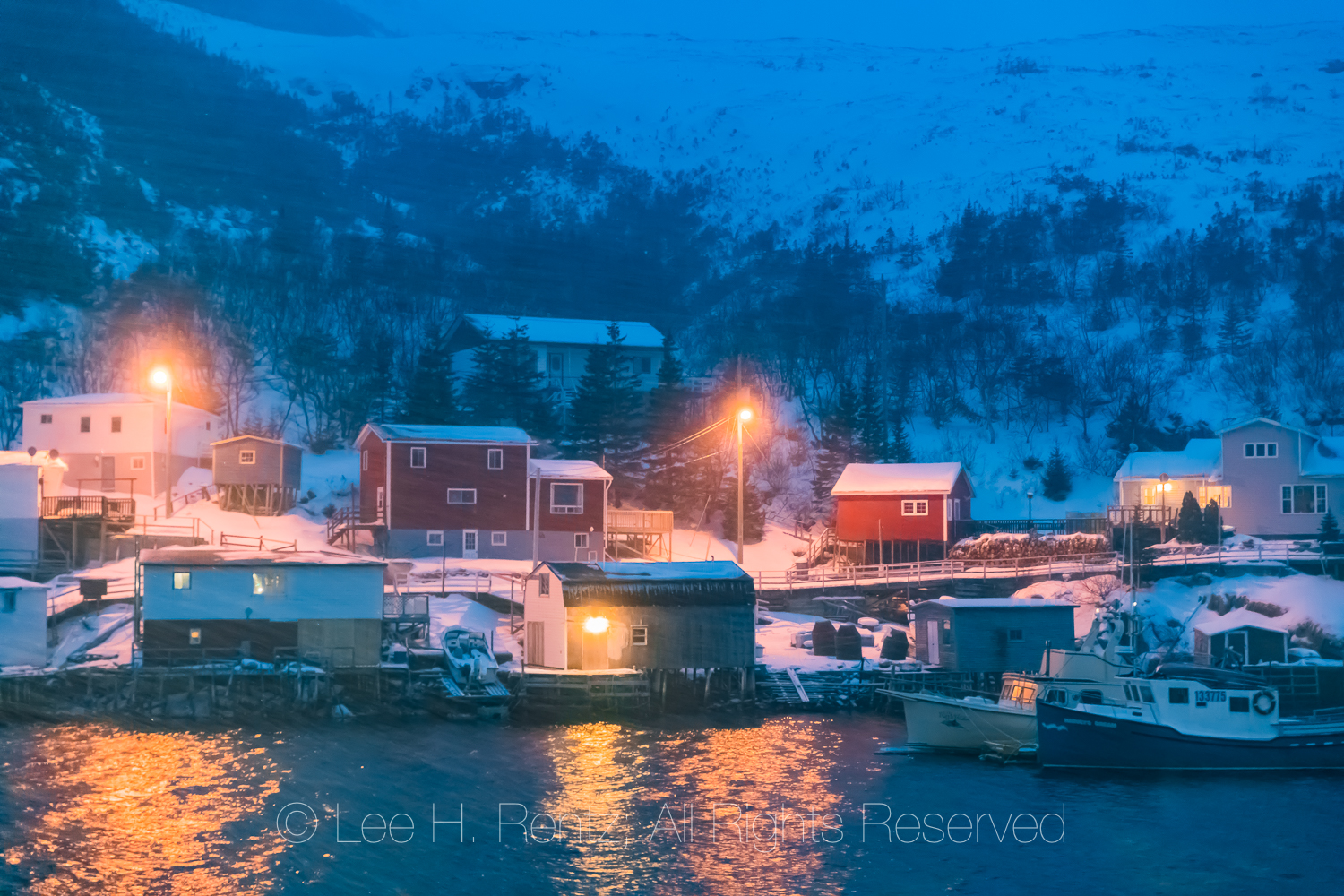 Snowstorm Hitting Outport of Francois, Newfoundland