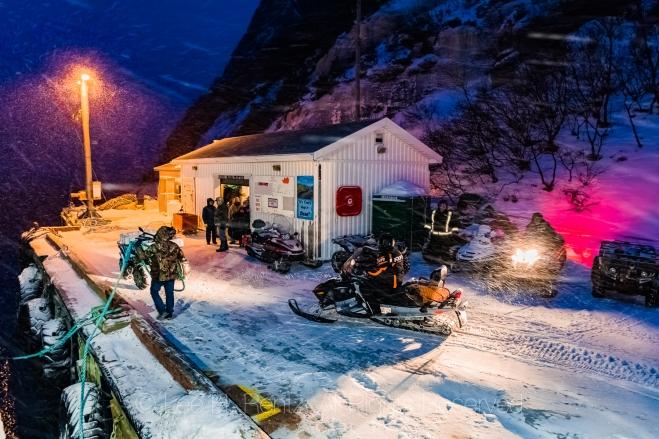 Snowstorm Hitting Outport of Francois, Newfoundland