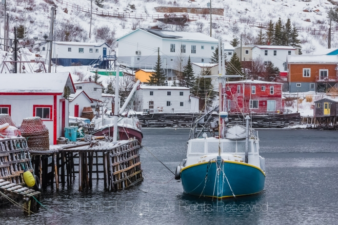Fishing Boat in Francois Outport in Newfoundland