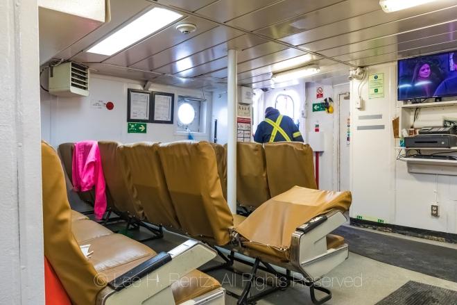 Passenger Cabin on Ferry Marine Voyager In Burgeo, Newfoundland