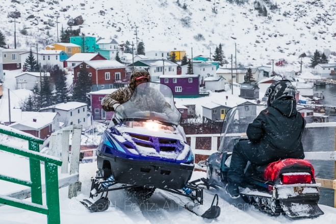 Snowmobiles are a Great Way to get around Francois Outport in Wi