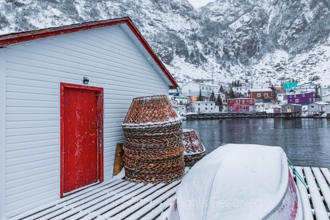 Crab Post and Stage  in Francois Outport in Newfoundland