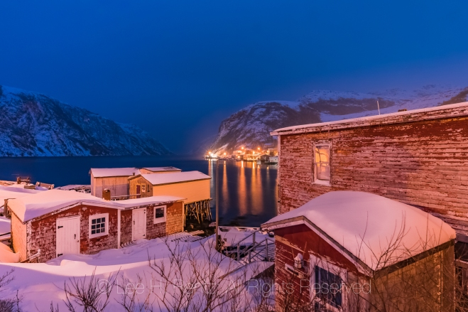 Francois Outport at Night in Newfoundland