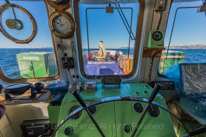 Bridge of Ferry Marine Voyager Plying South Coast of Newfoundlan