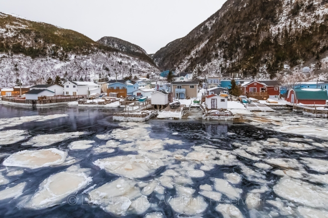 Houses in the Outport of Grey River, Newfoundland